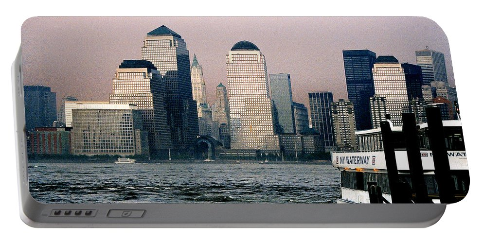 New York Portable Battery Charger featuring the photograph Empty Sky by Steve Karol