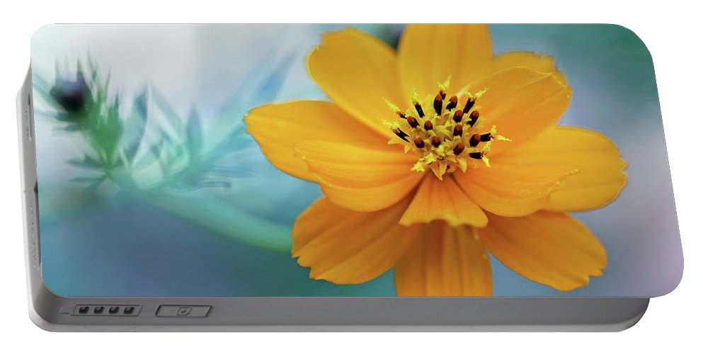 Yellow Portable Battery Charger featuring the photograph Enchanted Flower by Paul Sturdivant