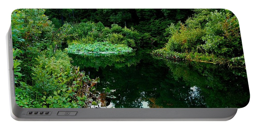 Garden Portable Battery Charger featuring the photograph Enchanted Gardens by Kendall Eutemey