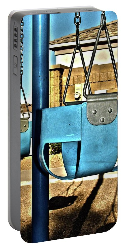 Hdr Portable Battery Charger featuring the photograph Enchanted Swings by Albrey Boseck