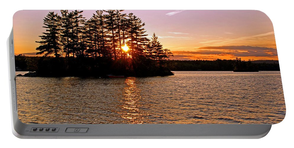 Island Portable Battery Charger featuring the photograph Enchantment by Lynda Lehmann