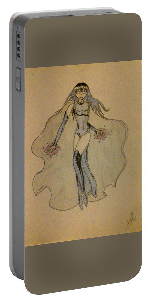 Enchantress Portable Battery Charger featuring the drawing Enchantress by Alisha Anderson
