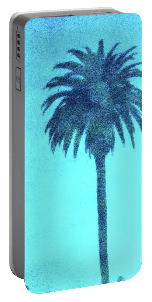 Encinitas Portable Battery Charger featuring the photograph Encinitas Palm by Dana Peters-Colley