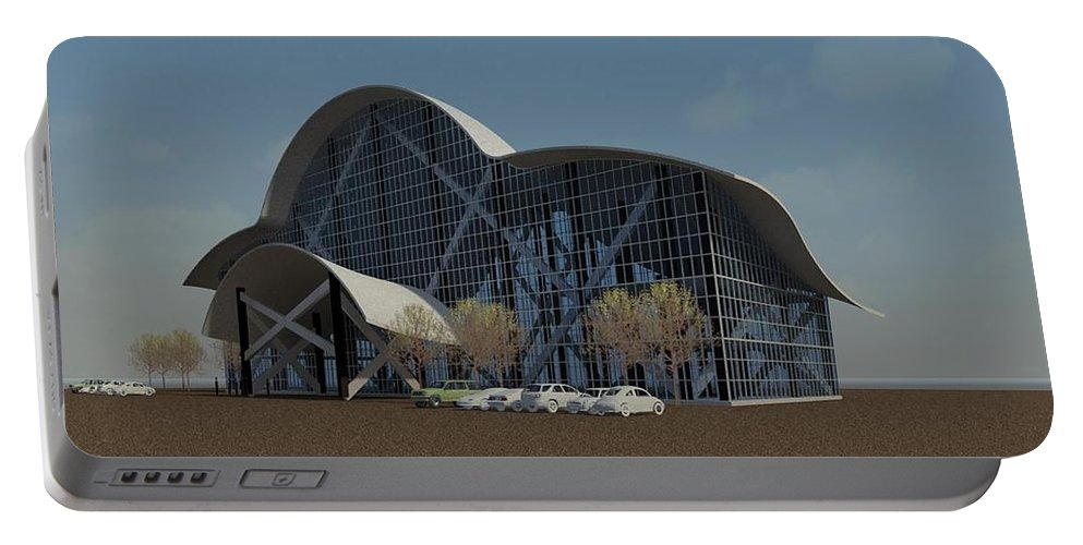 Building Rendering Portable Battery Charger featuring the digital art Enclosure by Ron Bissett
