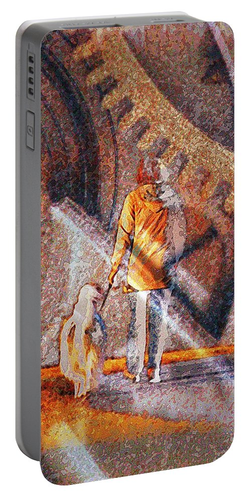 Dog Portable Battery Charger featuring the photograph Encounter With Destiny... by Arthur Miller