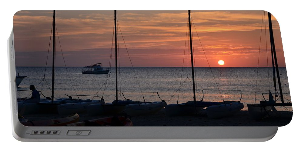 Sunset Portable Battery Charger featuring the photograph End Of Day by Timothy Markley