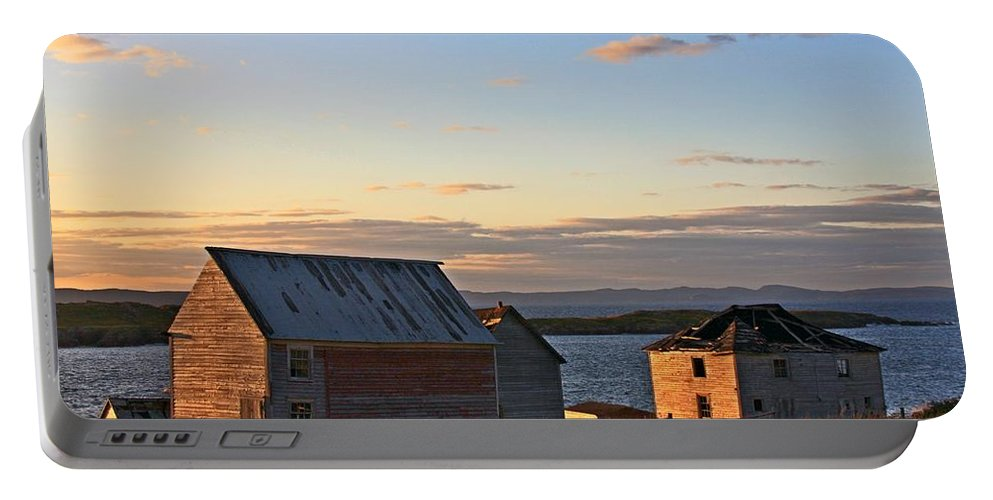 Trinity Bay Portable Battery Charger featuring the photograph End Of The Day In Trinity Bay, Newfoundland by Tatiana Travelways