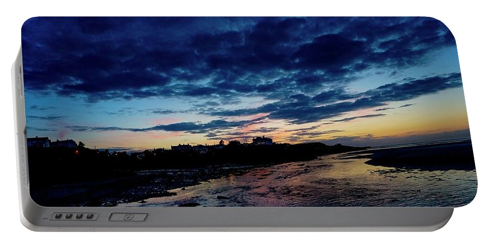 Sky Sunset Beach Clouds Landscape Anglesey Shore Wales Sea Portable Battery Charger featuring the photograph Endless Nights by John Lonsdale