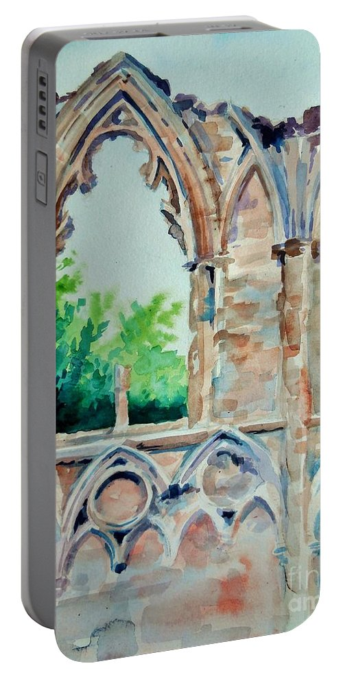 Trees Portable Battery Charger featuring the painting Enduring Artistry by K M Pawelec
