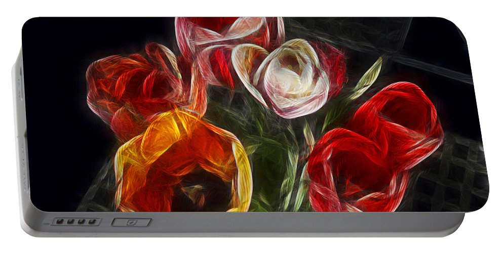 Tulip Portable Battery Charger featuring the photograph Energetic Tulips by Joachim G Pinkawa