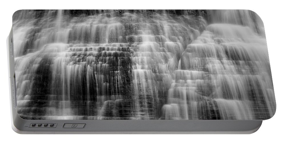 Ithaca Portable Battery Charger featuring the photograph Lower Falls Cascade #2 by Stephen Stookey