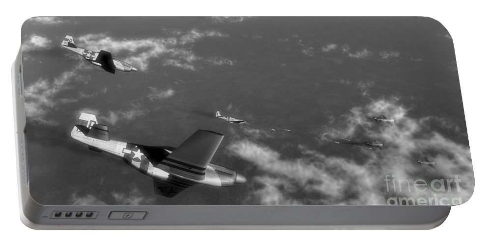 Aviation Portable Battery Charger featuring the digital art Engagement Party by Richard Rizzo