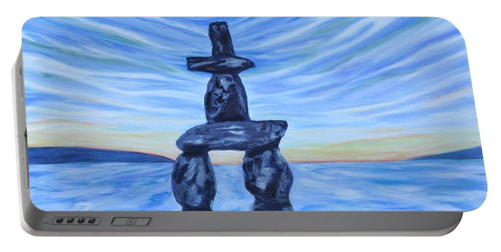 English Bay Portable Battery Charger featuring the painting English Bay by Caroline Liggett
