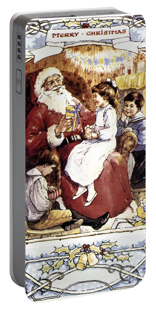 19th Century Portable Battery Charger featuring the photograph English Christmas Card by Granger