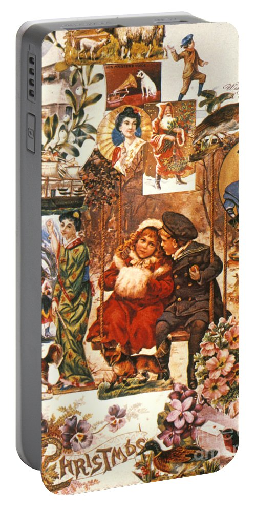 19th Century Portable Battery Charger featuring the photograph English Christmas Cards by Granger