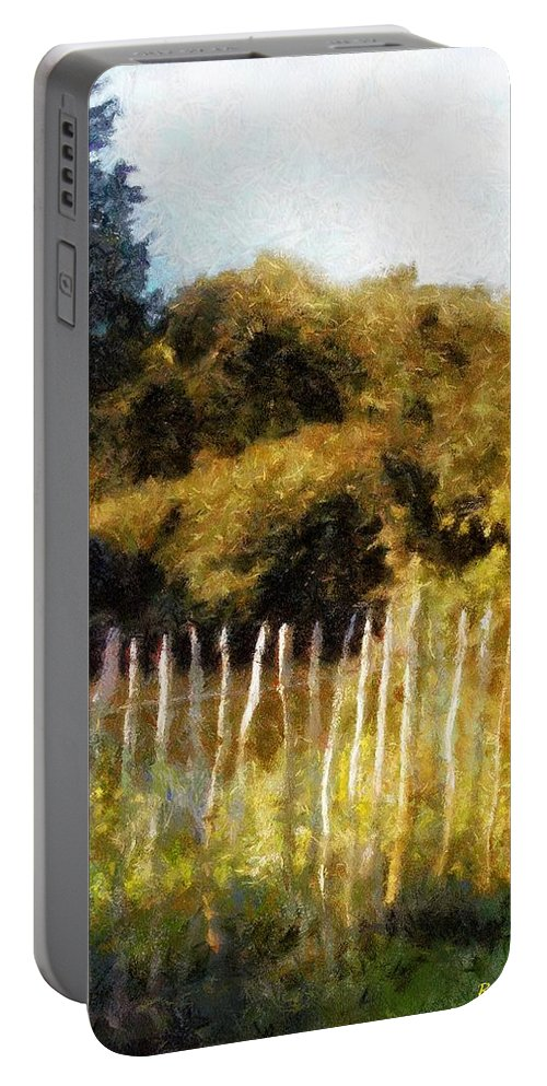 Landscape Portable Battery Charger featuring the painting English Pastorale by RC DeWinter