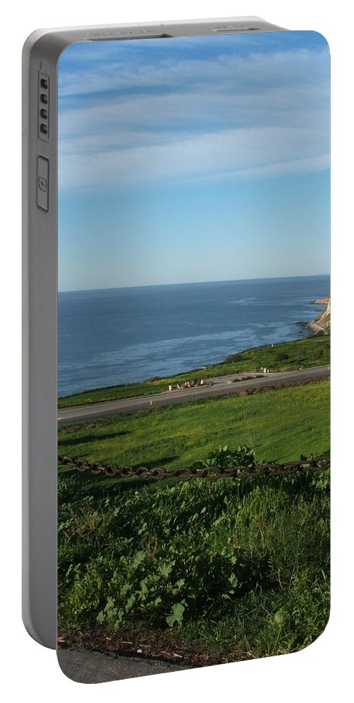 Ocean Portable Battery Charger featuring the photograph Enjoying The View by Shari Chavira