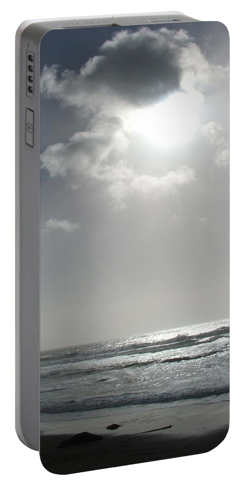 Black And White Portable Battery Charger featuring the photograph Enlightened by Shari Chavira