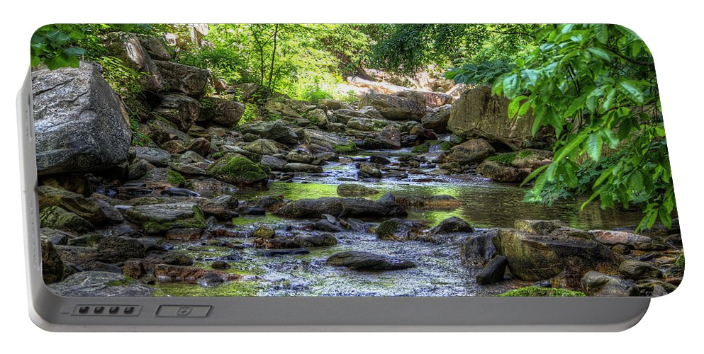 Forest Portable Battery Charger featuring the photograph Eno River by James Foshee