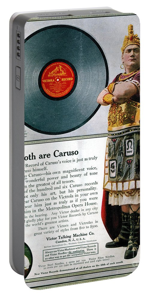 1914 Portable Battery Charger featuring the photograph Enrico Caruso (1873-1921) by Granger