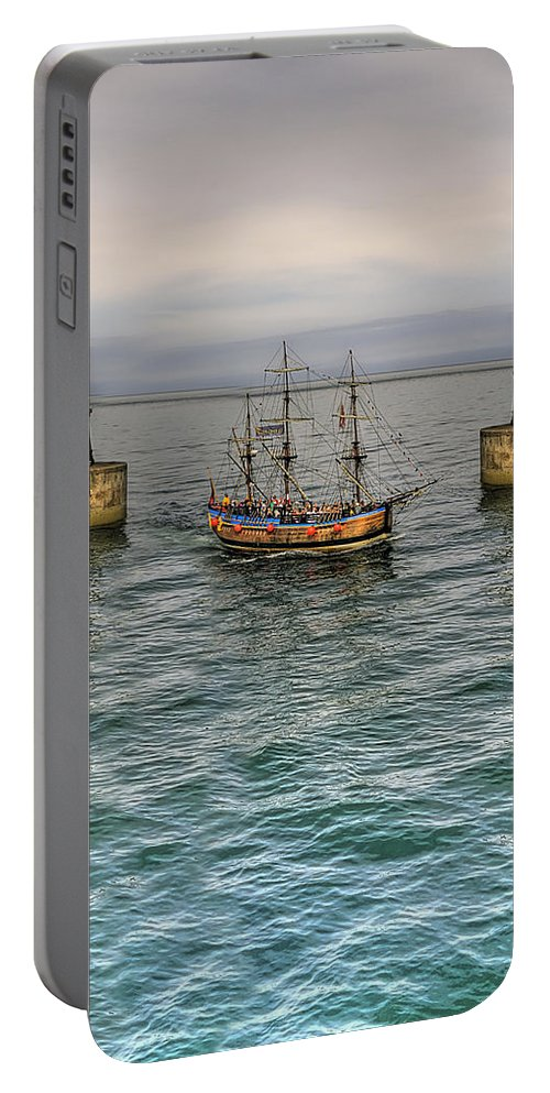Pier Portable Battery Charger featuring the photograph Entering by Svetlana Sewell