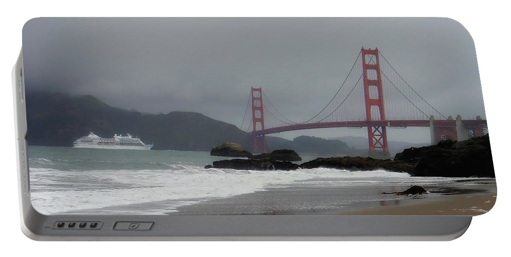 San Francisco Portable Battery Charger featuring the photograph Entering The Golden Gate by Donna Blackhall