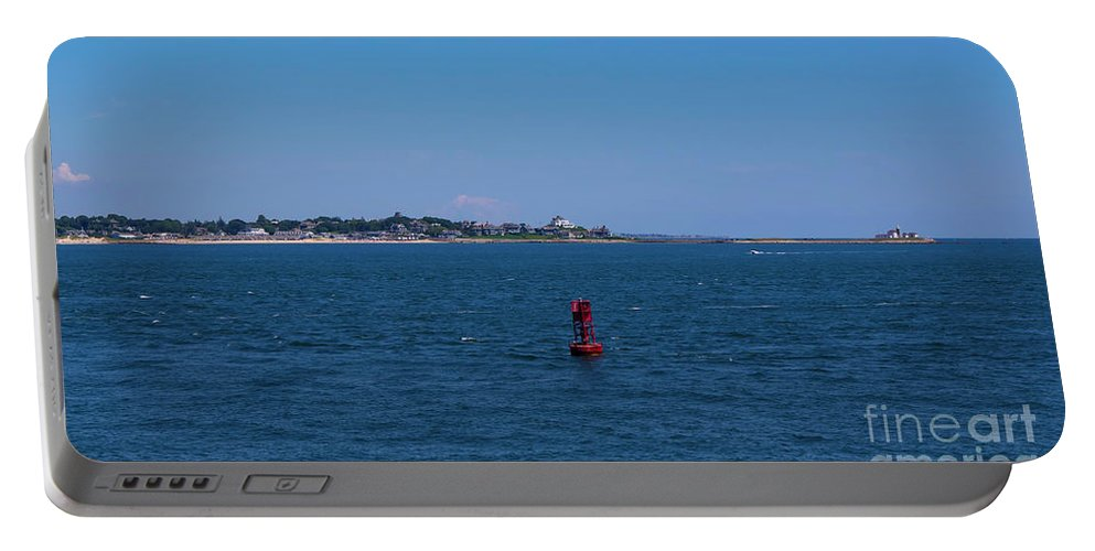Hill Portable Battery Charger featuring the photograph Entering Watch Hill Waters by Joe Geraci