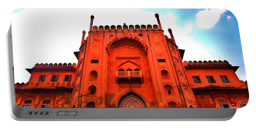 Architecture Portable Battery Charger featuring the photograph #Entrance Gate by Aakash Pandit