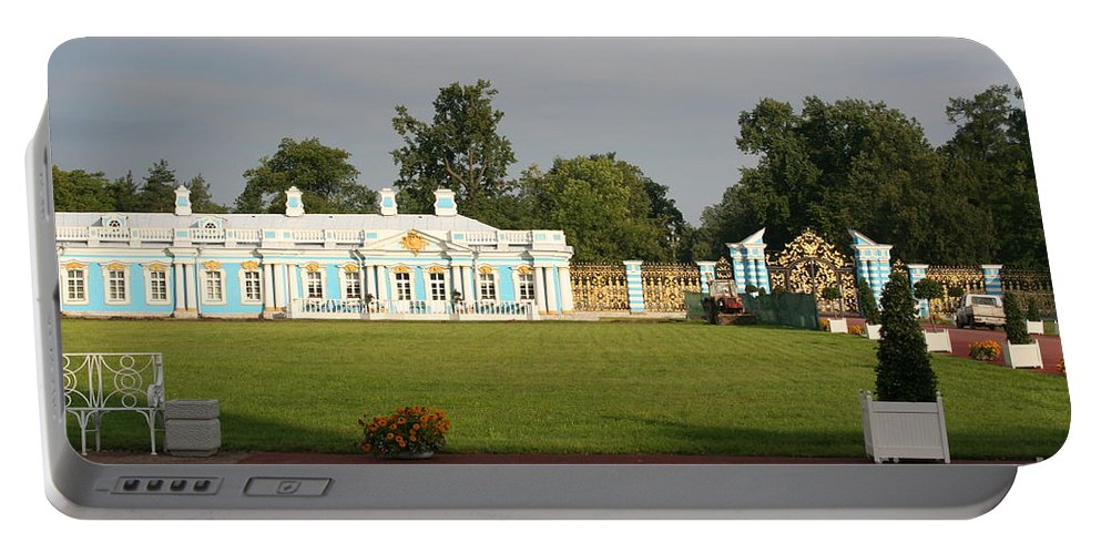 Entrance Portable Battery Charger featuring the photograph Entrance Katharinen Palace by Christiane Schulze Art And Photography