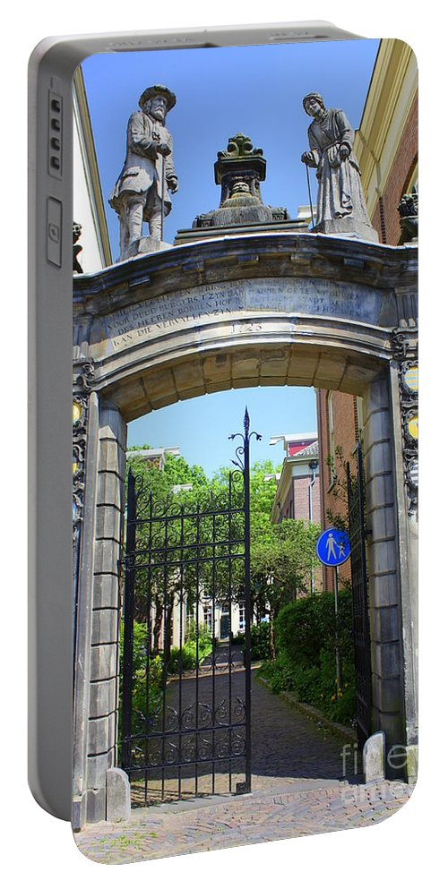 Bronhof Portable Battery Charger featuring the photograph Entrance Of Bornhof by Maria Douwma