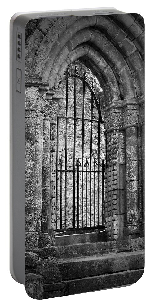 Irish Portable Battery Charger featuring the photograph Entrance To Cong Abbey Cong Ireland by Teresa Mucha