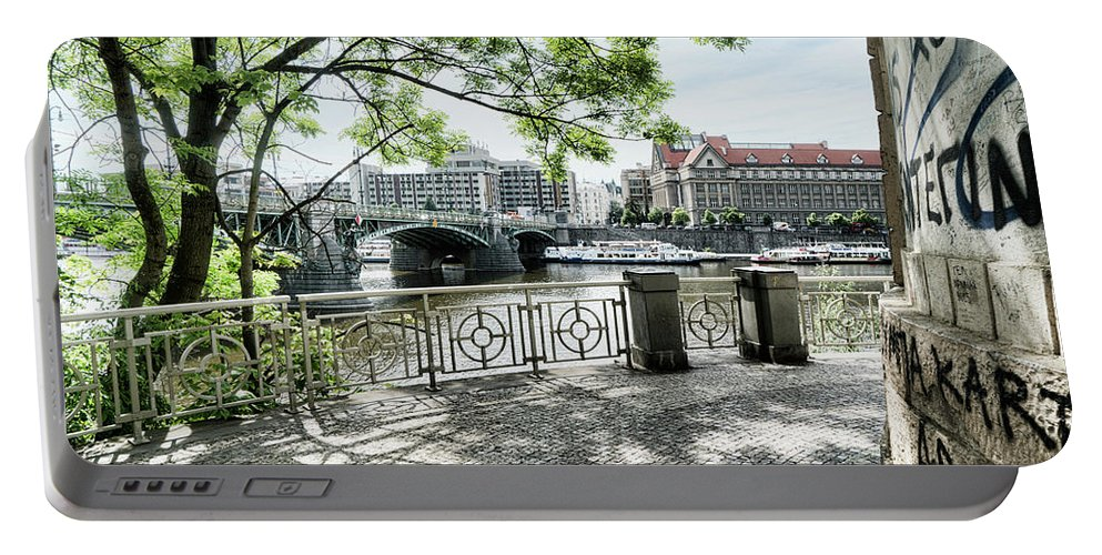 Central Europe Portable Battery Charger featuring the photograph Entry To Prague by Sharon Popek