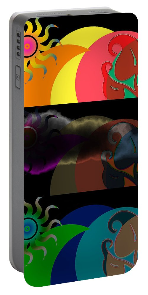 Portable Battery Charger featuring the digital art Environment by Clayton Bruster