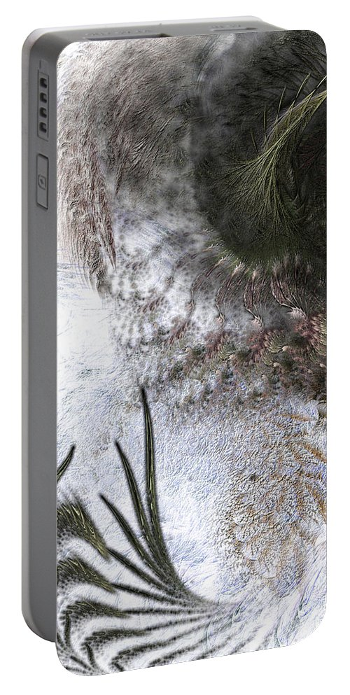 Abstract Portable Battery Charger featuring the digital art Environmental Transitions by Casey Kotas