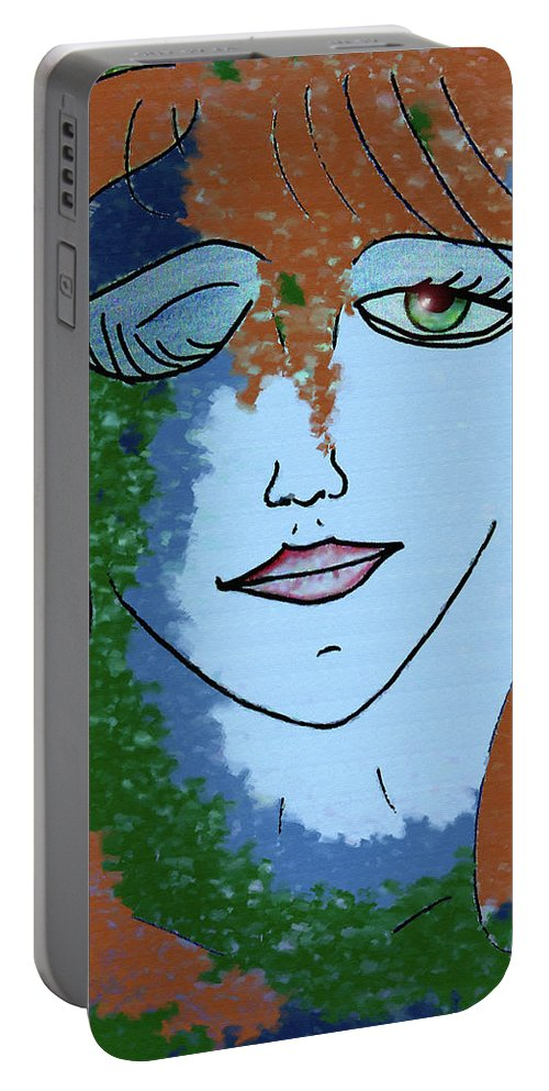 Woman Portable Battery Charger featuring the digital art Envy by Donna Blackhall