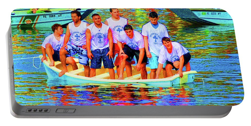 Epiphany Portable Battery Charger featuring the photograph Epiphany Boys by Jost Houk