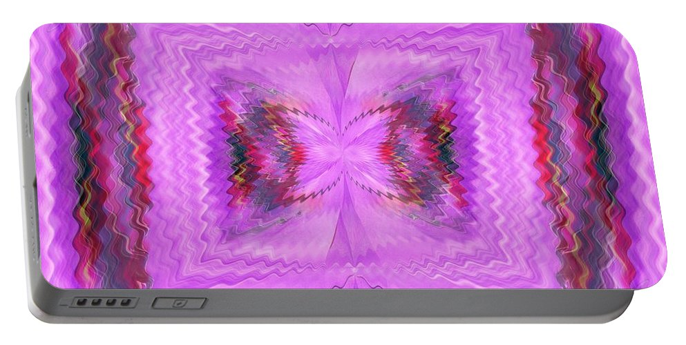Eruption Portable Battery Charger featuring the digital art Eruption Within by Tim Allen