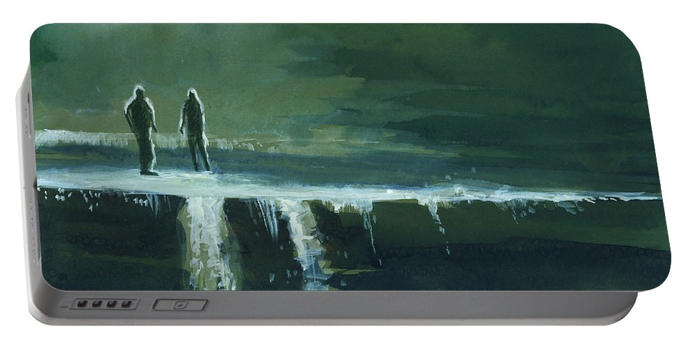 Jump Portable Battery Charger featuring the painting Escape by Anil Nene