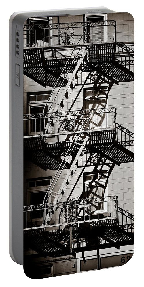 Fire Escape Portable Battery Charger featuring the photograph Escape by Dave Bowman