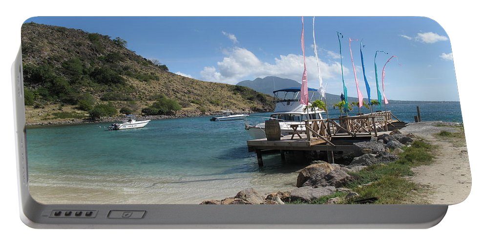 St Kitts Portable Battery Charger featuring the photograph Escape To A Warmer Sunnier Place by Ian MacDonald