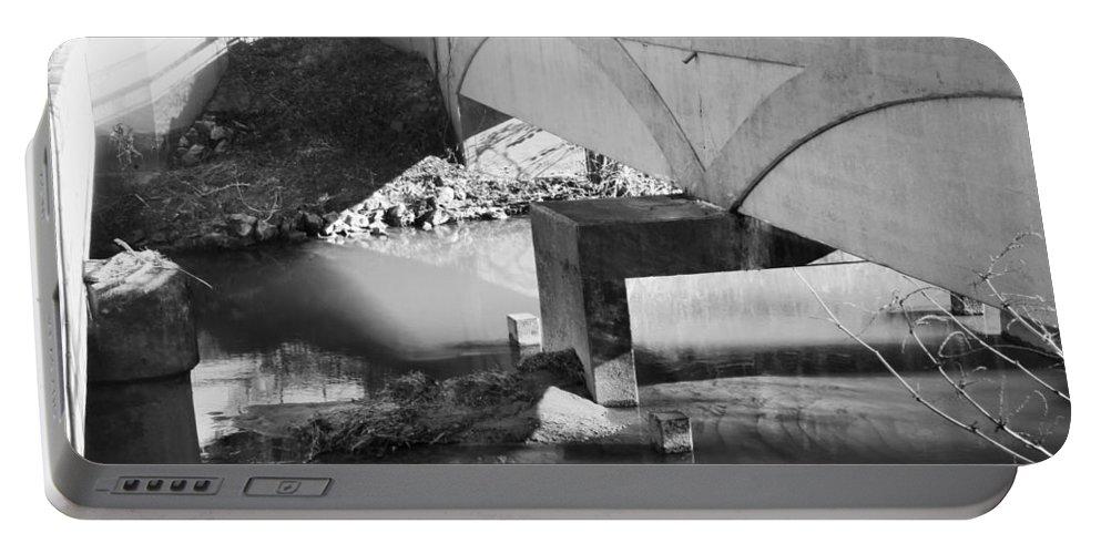 Bridge Portable Battery Charger featuring the photograph Escher Bridge by Katherine Klauber