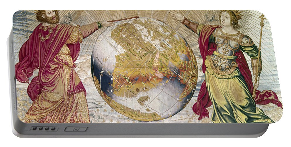 16th Century Portable Battery Charger featuring the photograph Escorial: Tapestry by Granger