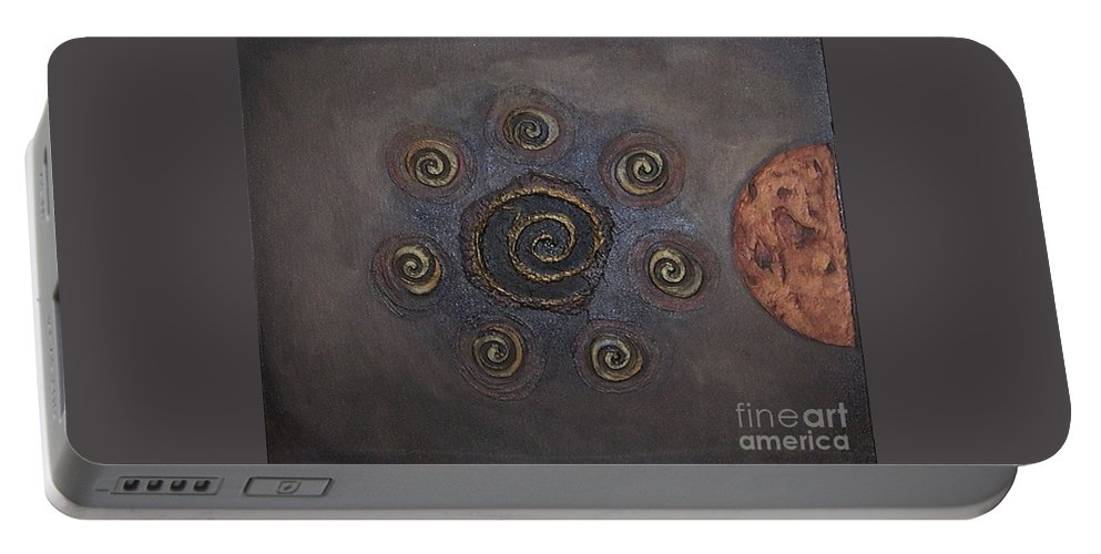 Sets Portable Battery Charger featuring the painting Espresso Roast by Marlene Burns