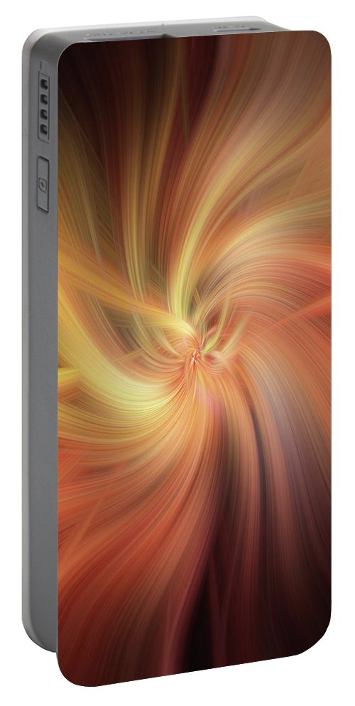 Jenny Rainbow Fine Art Photography Portable Battery Charger featuring the photograph Essential Vibrations Of Light by Jenny Rainbow