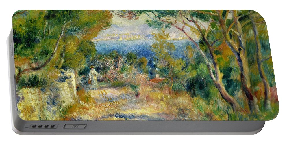 Estaque Portable Battery Charger featuring the painting Estaque by Renoir