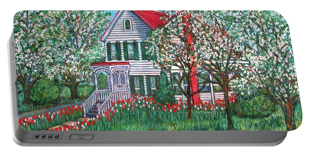 Home Portable Battery Charger featuring the painting Esther's Home by Kendall Kessler