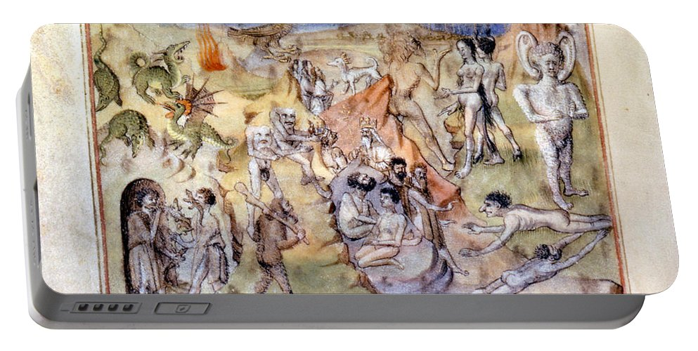 1460 Portable Battery Charger featuring the painting Ethiopia, C1460 by Granger