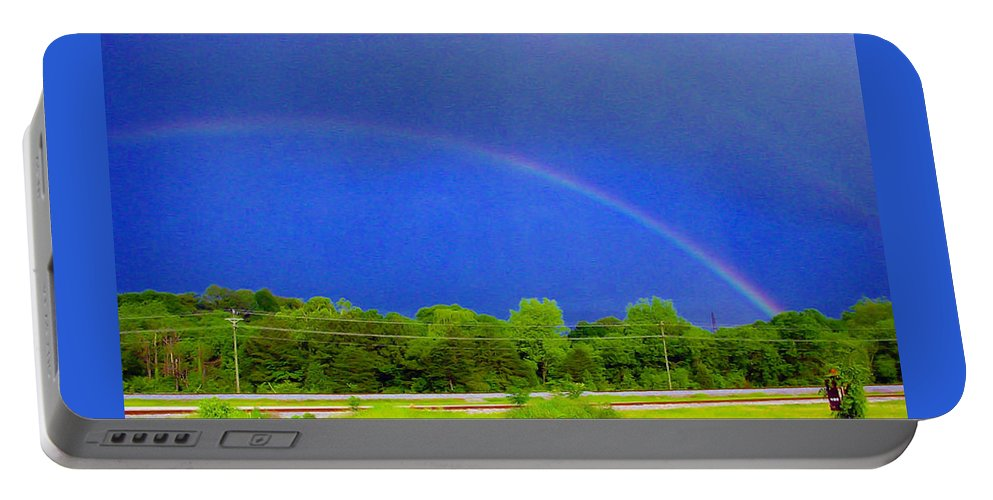 Pat Turner Portable Battery Charger featuring the photograph Etowah Rainbow by Pat Turner
