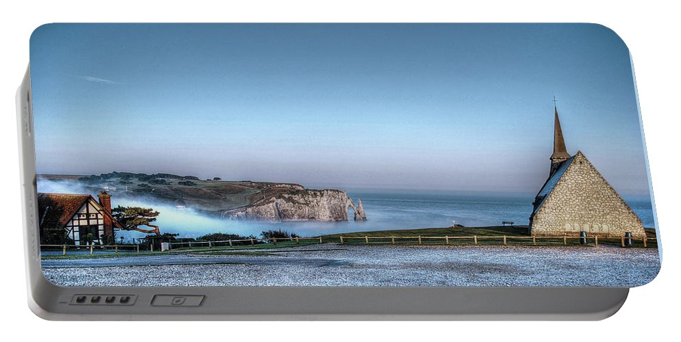 Church Portable Battery Charger featuring the photograph Etretat Church by Jane Svensson
