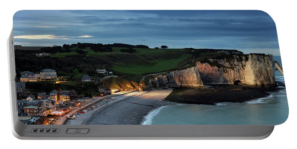 Etretat Portable Battery Charger featuring the photograph Etretat In The Evening by Nailia Schwarz